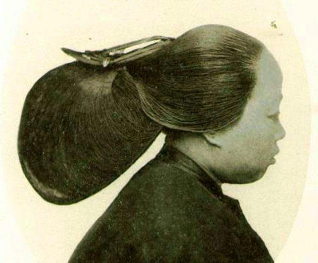 清朝女人没有发胶,这些奇特的发型到底是怎么固定的?图片