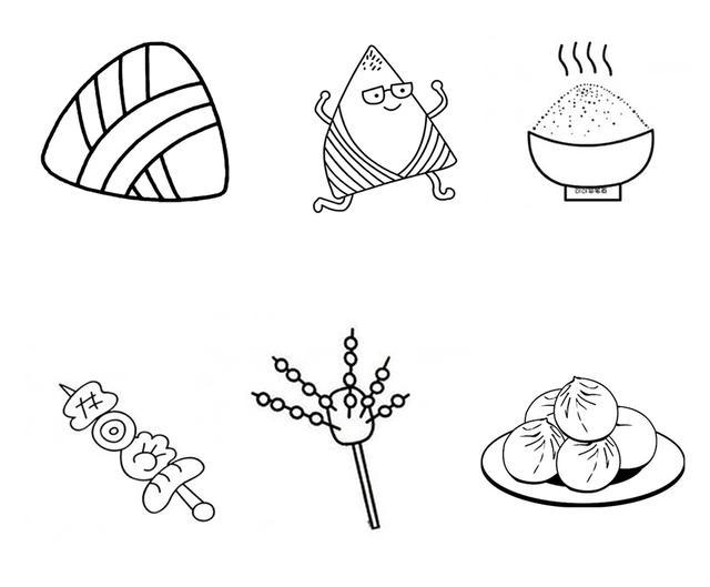 超级可爱的食物简笔画,和小盆友一起画起来吧图片