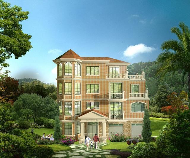 5层小别墅设计图 没有个小100万估计还建不了!