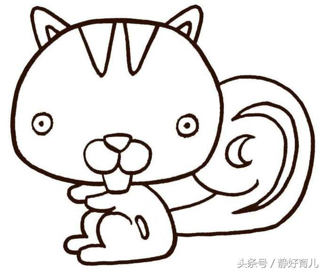 10款小动物简笔画,家长请收好 简单好画,提升孩子创作能力