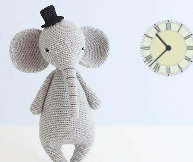 超详细大象钩针编织教程来啦,可做宝宝的安抚玩具哦