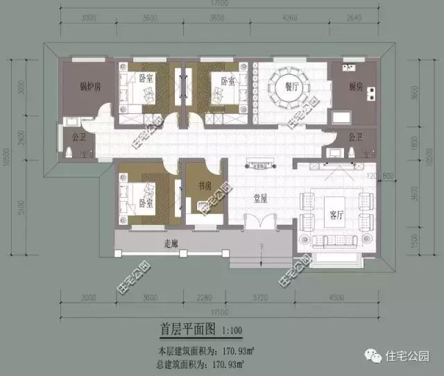 10套带堂屋农村别墅, 第2套最豪第1套建最多, 第4中式图片