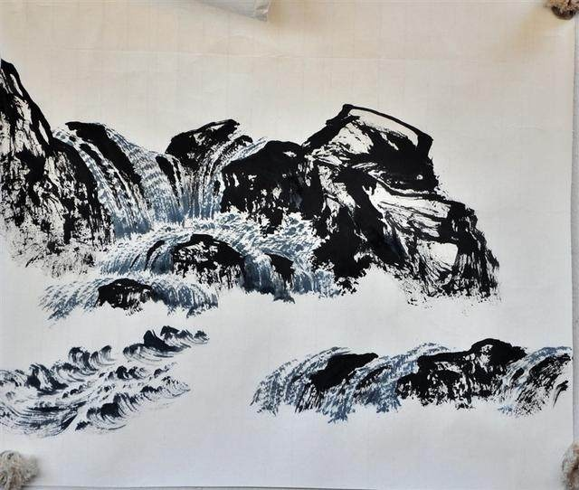 如何学会曾刚彩墨山水画技法?