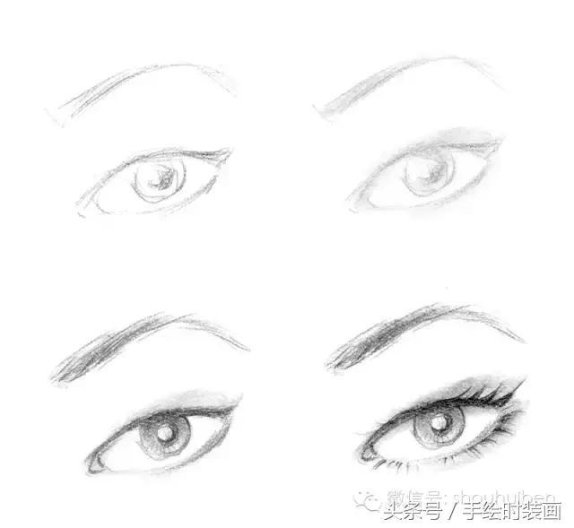 手绘时装效果图中眼睛的画法 希望能对你有所帮助,喜欢的话就关注