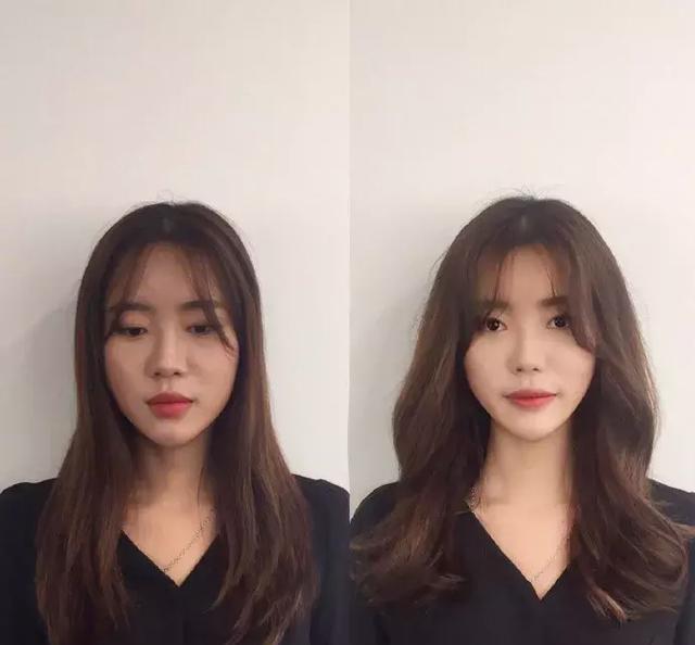 长发也是同样的,搭配八字刘海和发尾卷,甜美又淑女.