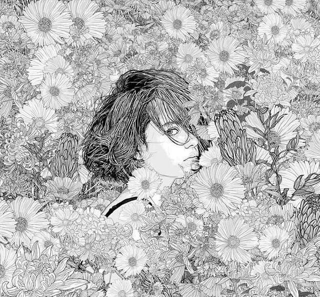 插画丨他把手绘线描画活了,女神们在花丛中优雅重生