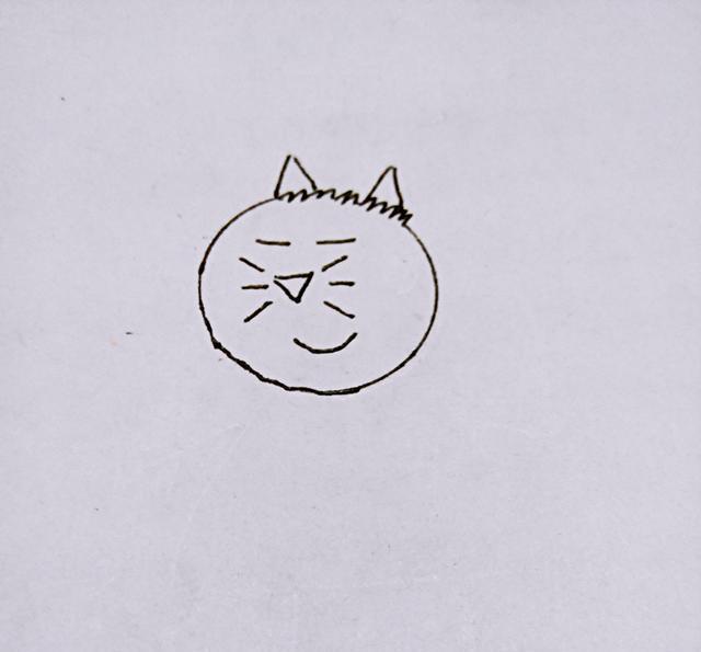 幼儿创意简笔画|小猪佩奇的朋友–小猫坎迪,很简单的哦!
