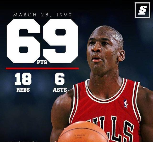 69分18板仅两记三分,27年前的今天,乔丹常规赛封神!