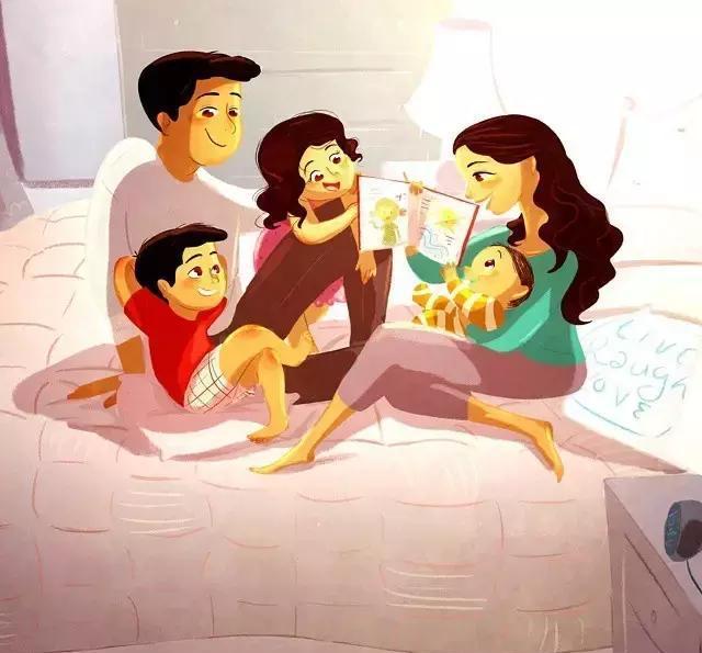 我们都是一家人漫画_一家人在一起 做什么都是幸福的