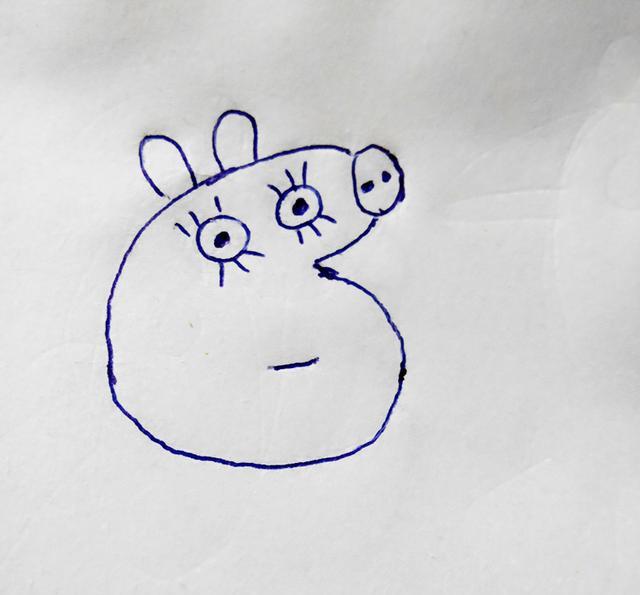 幼儿创意简笔画 小猪佩奇的妈妈,看看跟佩奇有什么不同
