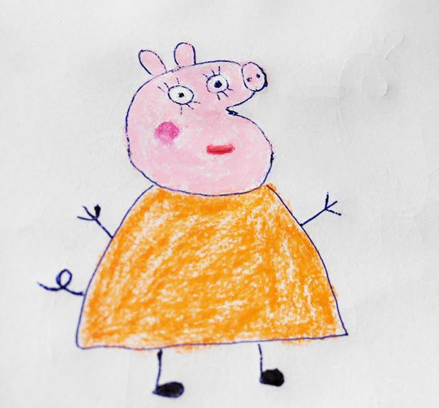 幼儿创意简笔画|小猪佩奇的妈妈,看看跟佩奇有什么不同