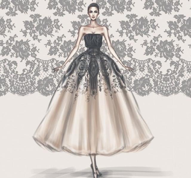 十二星座超美晚礼服手绘版,谁看了都喜欢的晚礼服,美翻啦