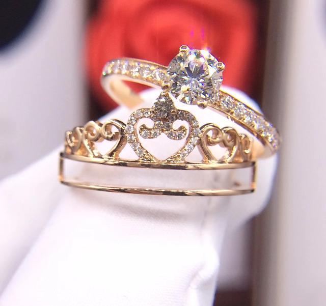 法国尚美巴黎女神皇冠款钻戒独特可拆分
