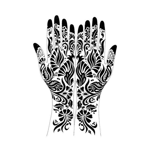 纹身手稿第10期:超实用的印度海娜花纹纹身手稿,值得图片