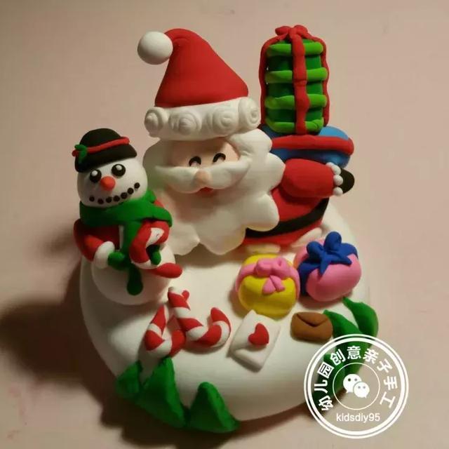 幼儿园圣诞节主题黏土作品欣赏,感谢来自粉丝的投稿!