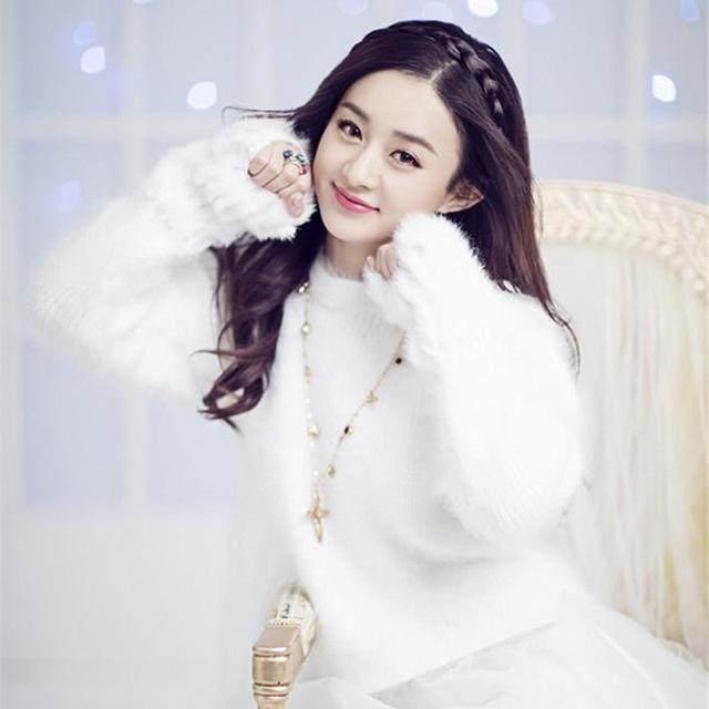 明星同款毛衣,杨颖果然接地气,赵丽颖超可爱