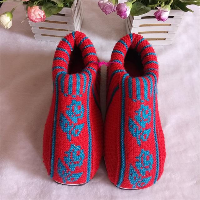 毛线棉鞋鞋面最简单的织法教程图解,喜欢的给点掌声