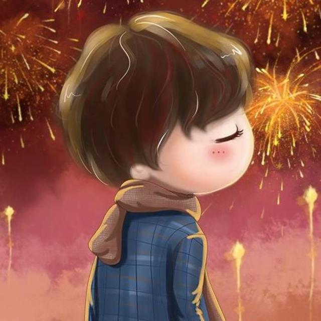 新的一年,愿你们被温柔相待 喜庆动漫情侣头像