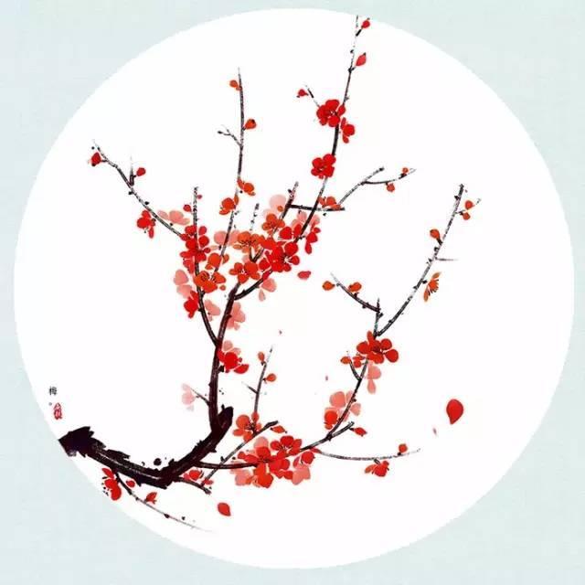 《梅花》  /王安石 墙角数枝梅,凌寒独自开. 遥知不是雪,为有暗香来.图片