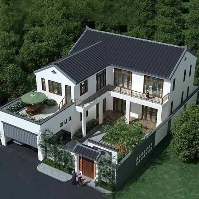 四合院设计图十二 一般而言,大宅院中,第一进为门屋,第二进是厅堂,第