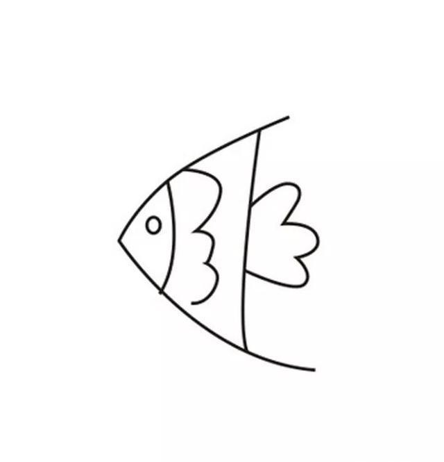 每天五分钟,来学简笔画 简单几笔画出生动可爱的小金鱼