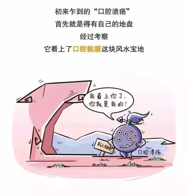 看知识学漫画,一张图带你全面了解口腔溃疡!之漫画千钧一发图片