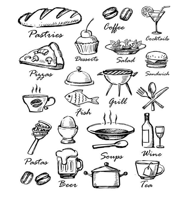 超级可爱的食物简笔画,和小盆友一起画起来吧