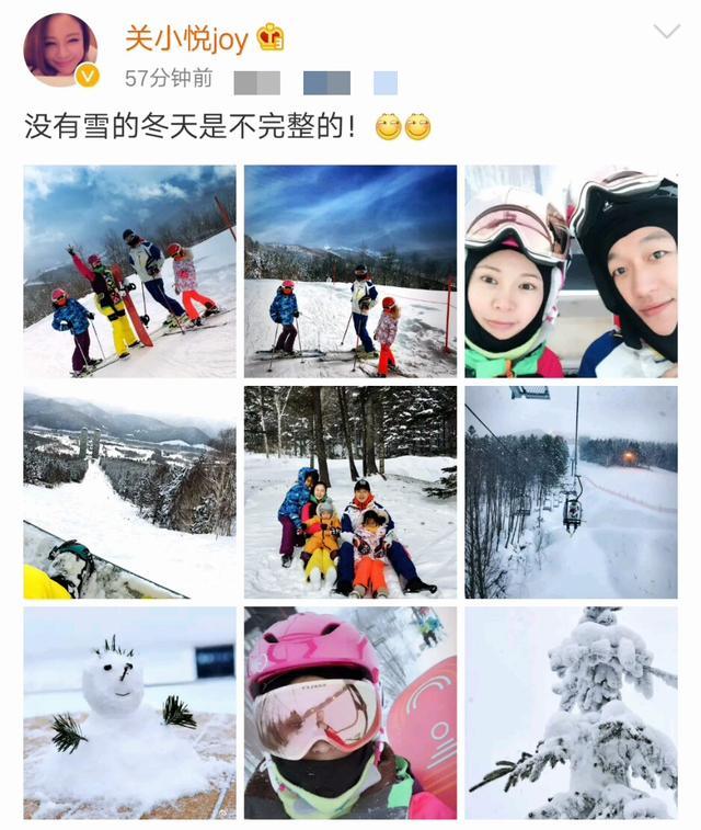 佟大為一家五口冰天雪地里度假,弟弟難得出鏡卻寫滿了不高興!