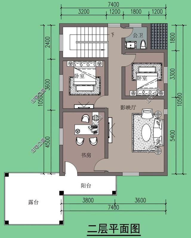 农村自建小别墅,7.4米x12米,这个户型适合80后,90后
