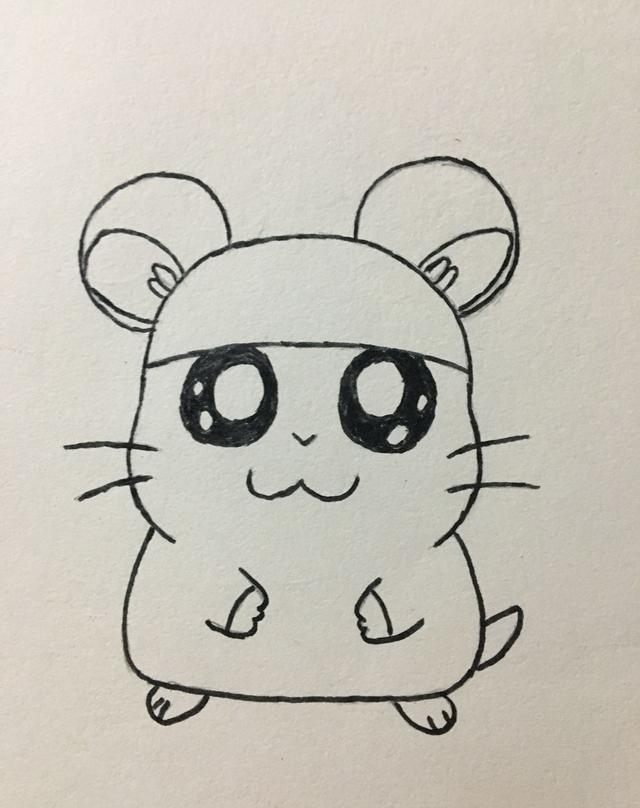 简笔画——小仓鼠的画法