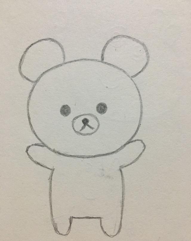 简笔画——一看就会的可爱小熊画法