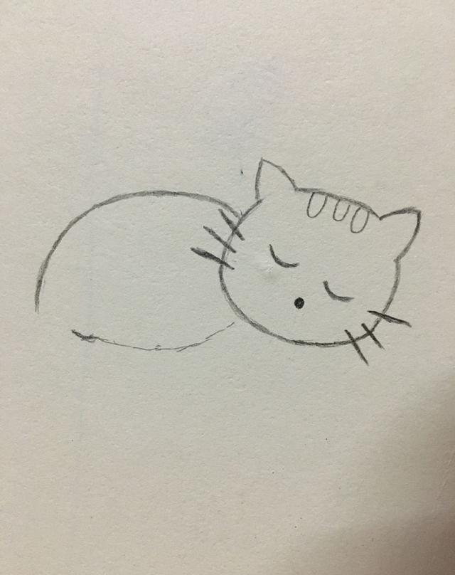 简笔画——可爱的小猫咪画法|小猫咪|画法|小动物