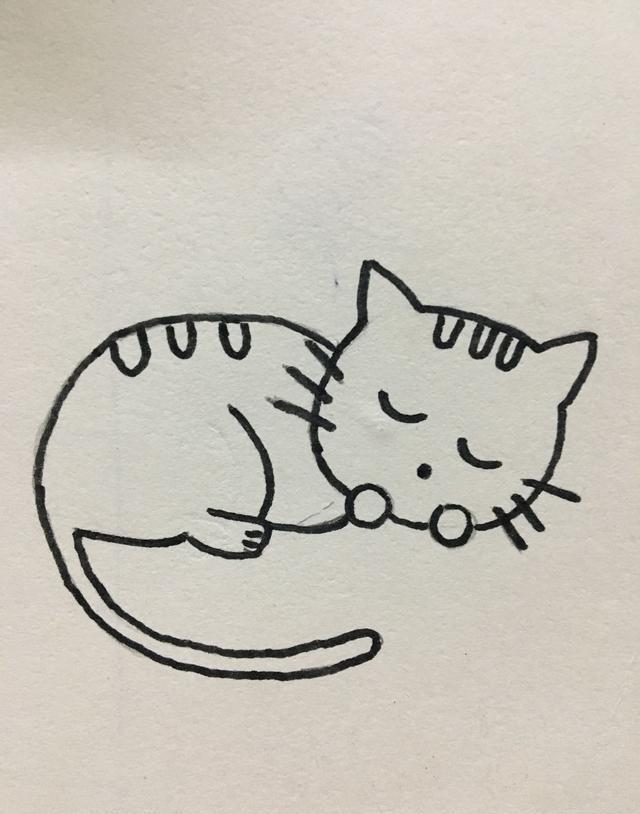 简笔画 可爱的小猫咪画法
