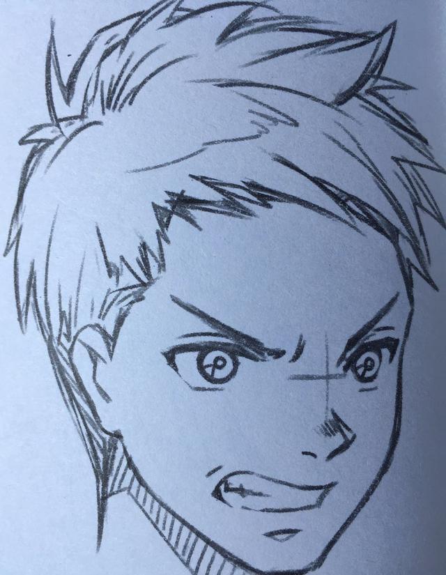 《影子漫画》漫画人物生气的时候面部表情画法示范|嘴