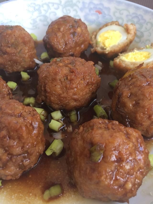 红烧丸子蛋肉丸子,这样的鹌鹑够味儿!清炒土豆丝菜谱图片