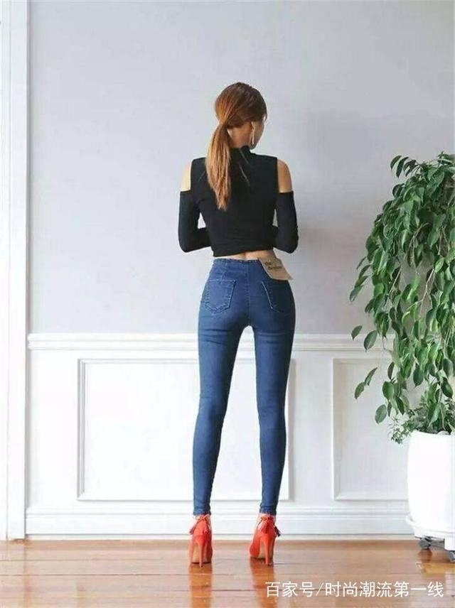 紧身牛仔�z(�_气质个性的紧身牛仔裤