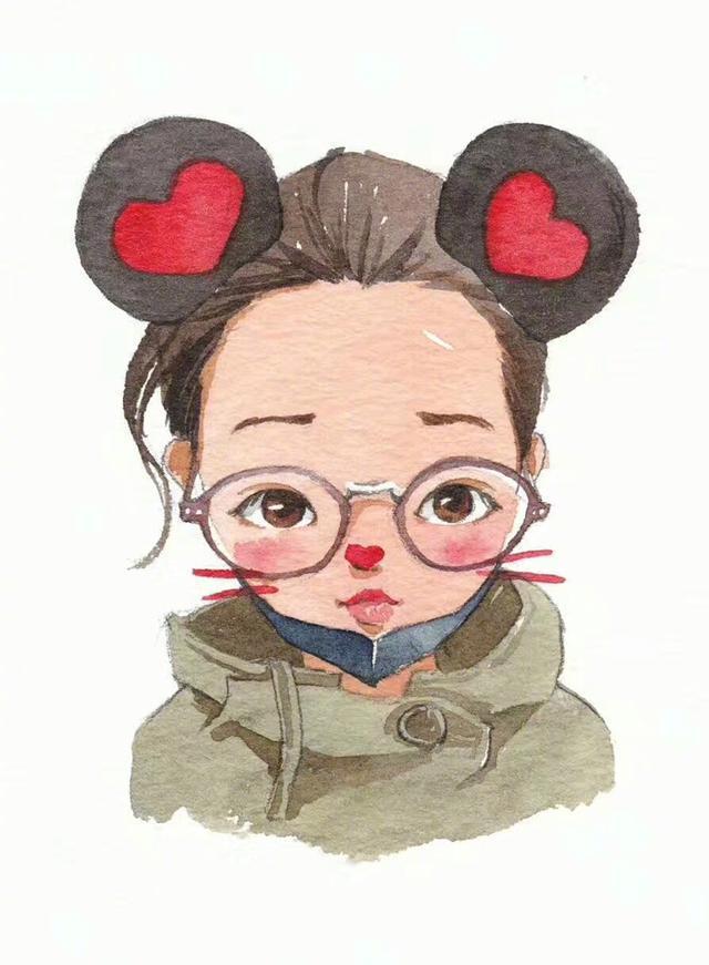 可爱女孩子手绘插画头像作品 哪一个是你的样子?