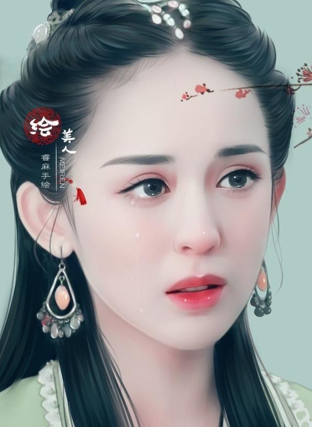 美哭了的明星手绘图,迪丽热巴baby美如画,没想到她更
