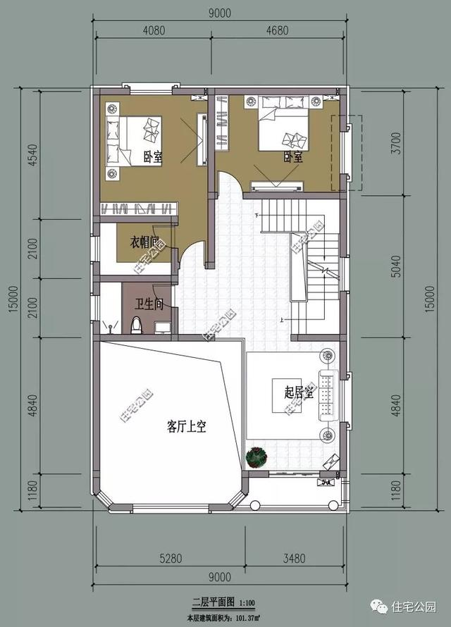 3套小户型农村别墅,7米面宽也能建豪宅,3层25万就能建好!