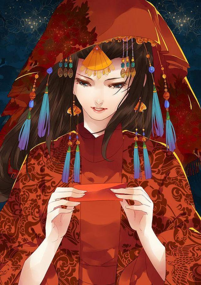 红妆_最美不过出嫁时,为君十里铺红妆,二次元古风嫁衣美人魅惑众生