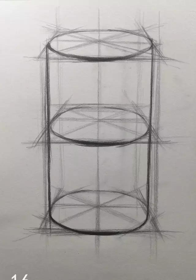 蔡海晨素描步骤稿03—圆柱体结构