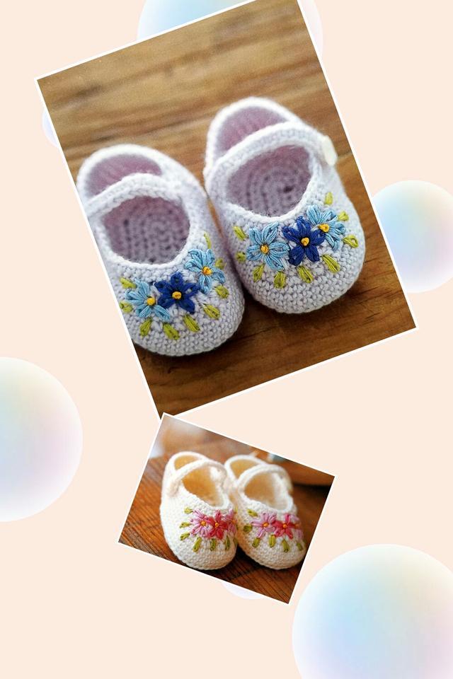 宝宝哪儿都可爱的不行,给宝宝胖嘟嘟的小脚丫织双可爱