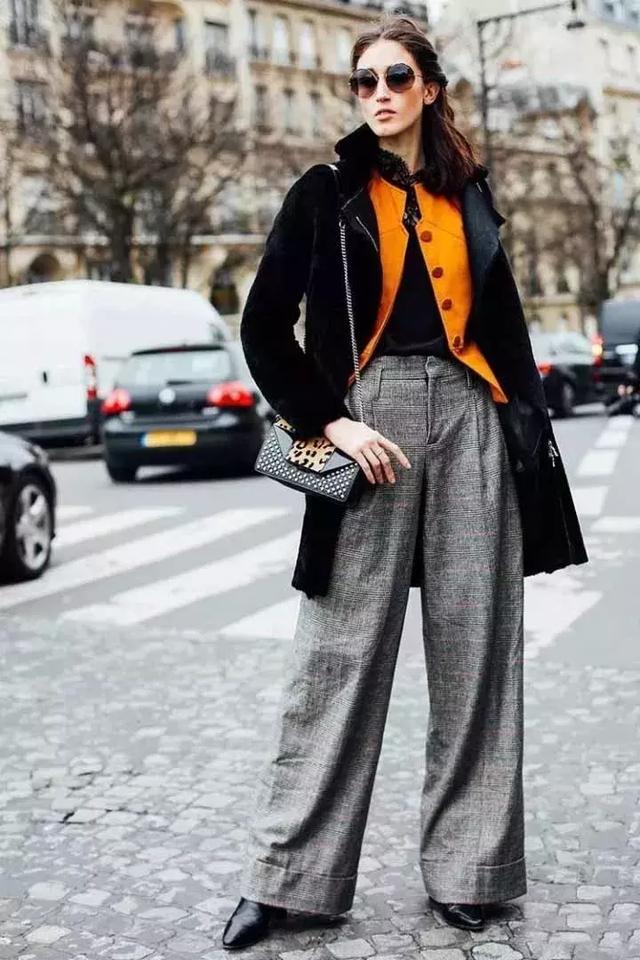 大衣+阔腿裤,才是冬季时髦星人的标配!