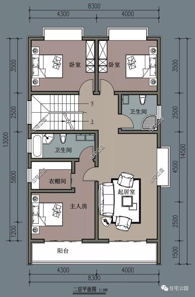 10套别墅户型建筑图,8到15米宽全都农村有,总呼伦贝尔秀水别墅图片