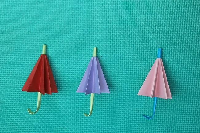 手工折纸迷你小雨伞,原来方法这么简单,美翻啦!