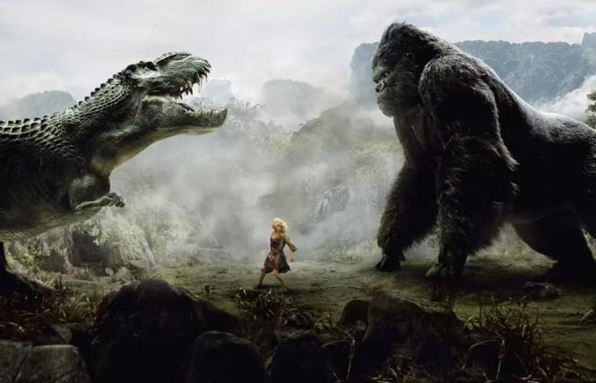 金刚的版本也很多,但是我最爱的还是这部2005版的金刚,孤岛怪物大集合