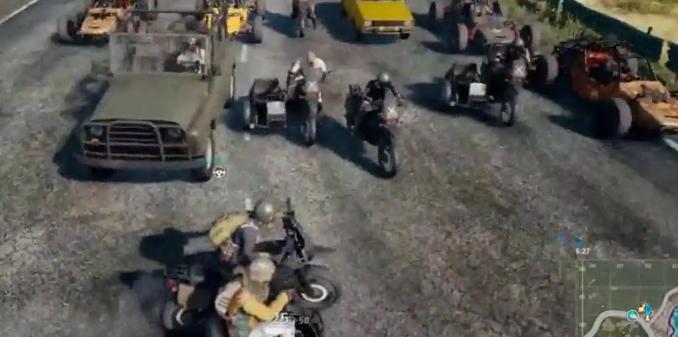 绝地求生玩家们又发明出新玩法,赛车拉力赛上演全图狂飙!