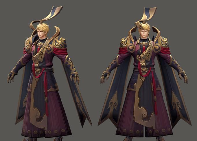 王者荣耀: 嬴政人物模型优化前后对比, 玩家: 完全看不见脖子
