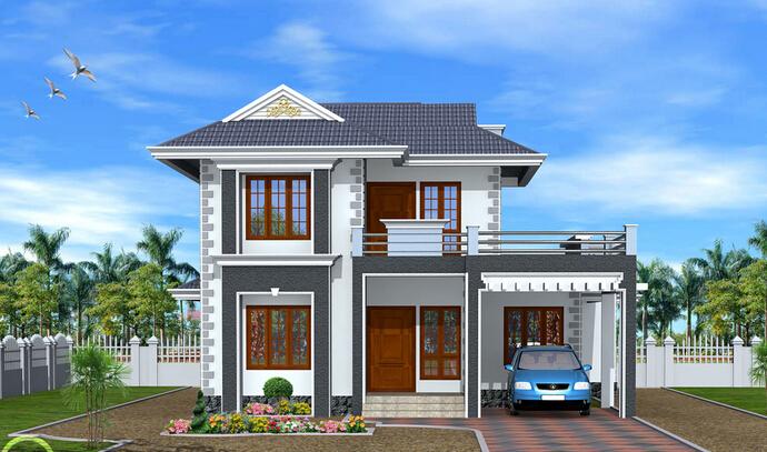 10套小户型农村别墅,2层造价不到30万,带车库设计新农村最实用图片