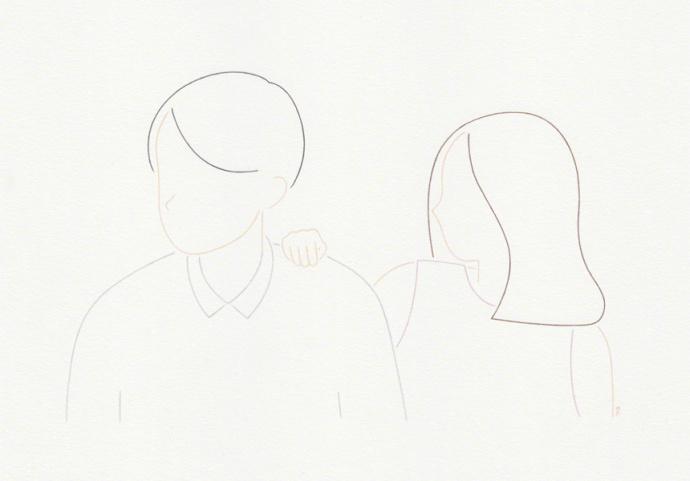 极简线条又不失细腻的插画风格 by emi ueoka